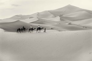 WK43_bw - Sand caravan